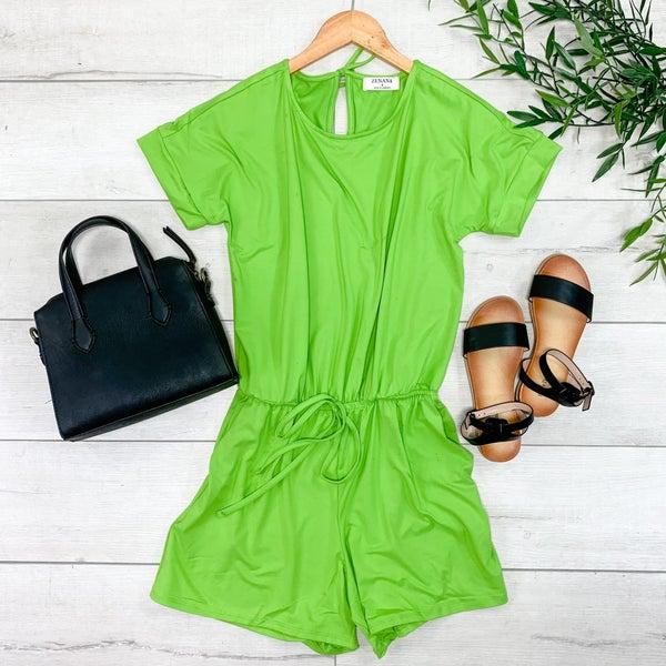 Solid Romper, Green