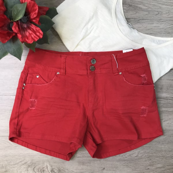 **YMI** Mid Rise Shorts, True Red *Final Sale*