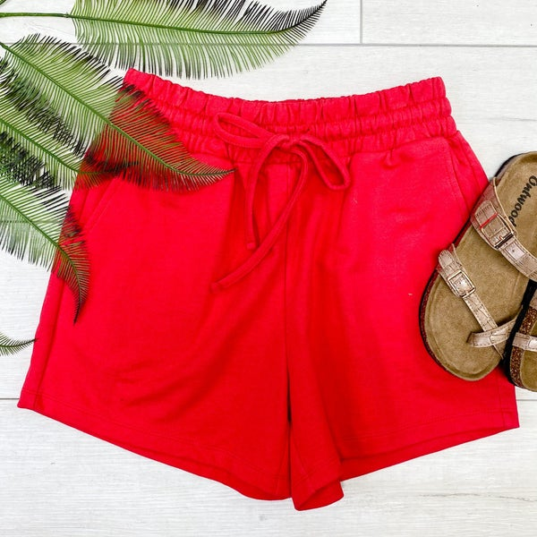 French Terry Shorts, Ruby