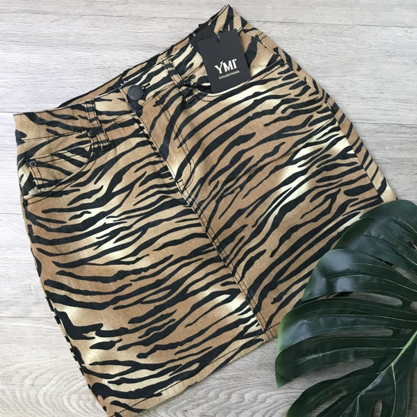 *YMI* Animal Print Skirt, Tiger
