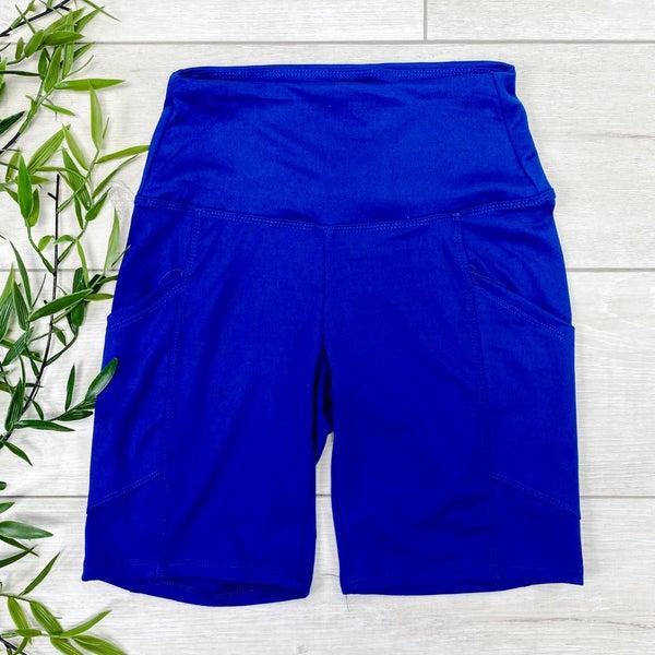 Biker Shorts w/Pockets, Mid Navy