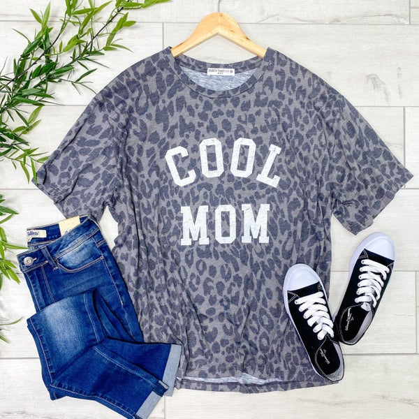 *Kendra's Collection* Cool MOM Graphic Tee, Gray