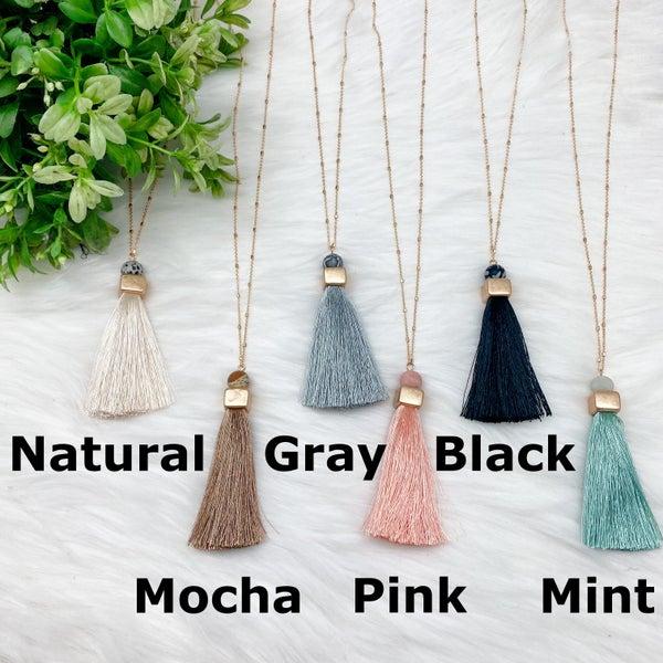Long Necklace w/Tassel