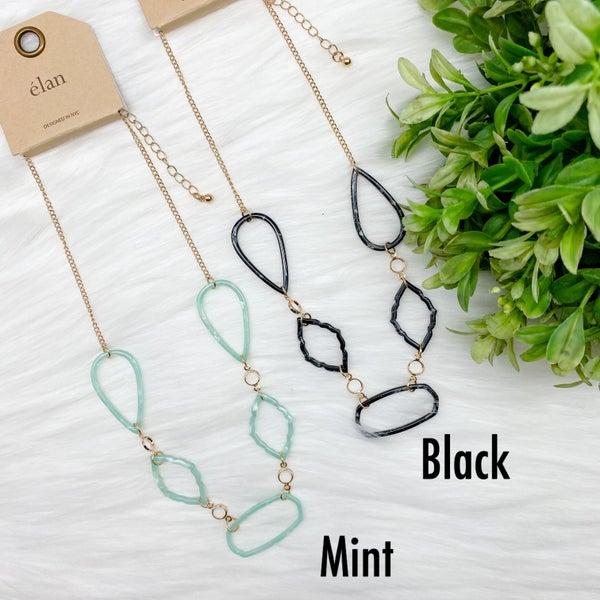 Multi Shaped Short Acetate Necklace *Final Sale*