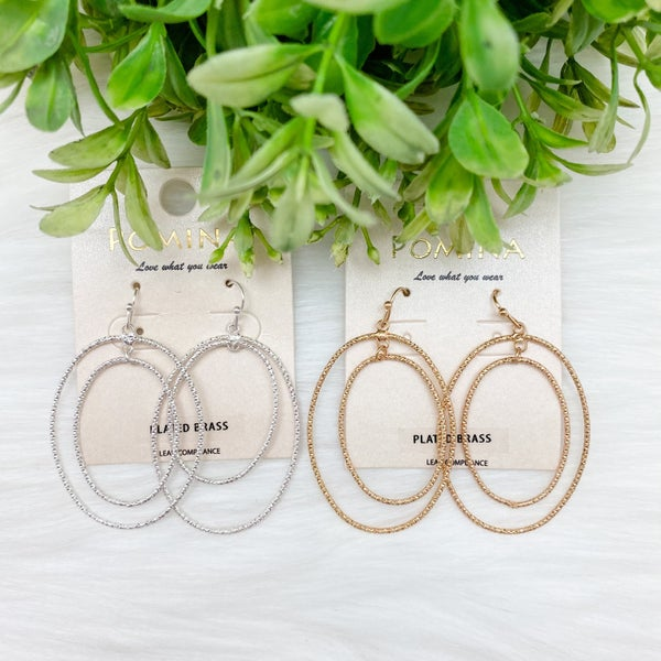 Shimmer Double Hoop Earrings *Final Sale*