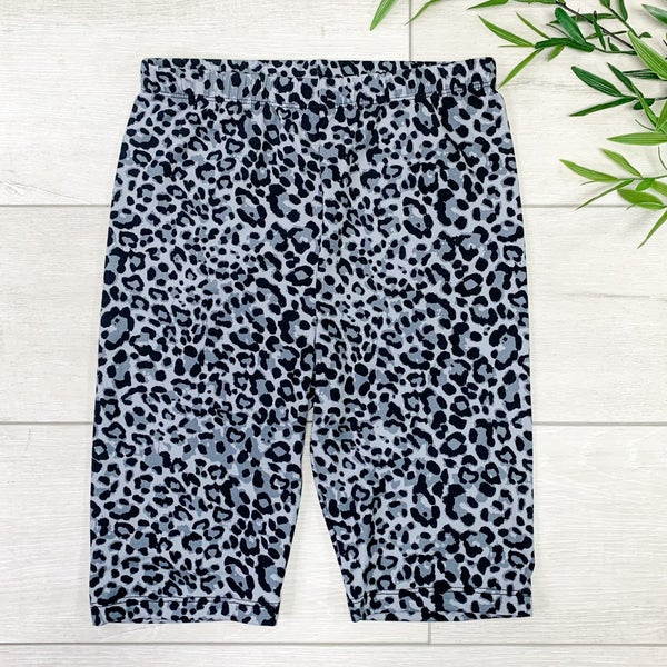 Cheetah Print Biker Short, Gray Black
