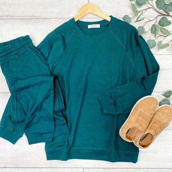Raglan Sleeve Puller & Jogger Set, Hunter Green