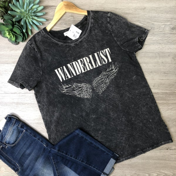 *Kendra's Collection* Graphic Tee - Wanderlust, Charcoal