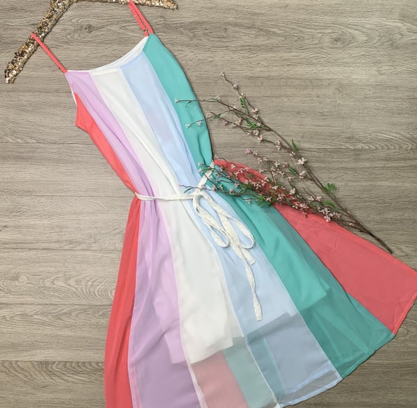 *Kendra's Collection* Strappy Multi Color Dress