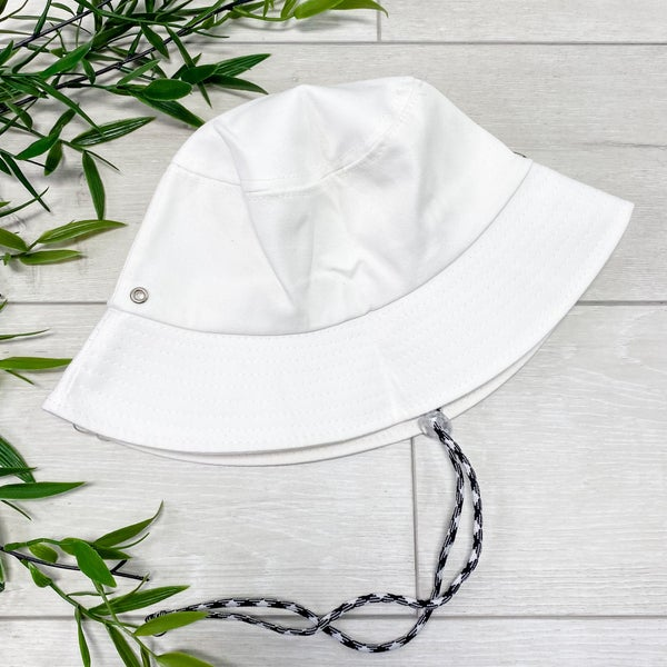 Solid Bucket Hat, White