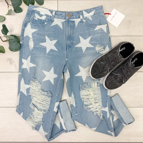 *Kendra's Collection* Star Printed Denim, Light