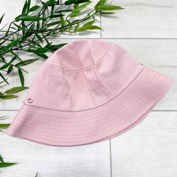 Solid Bucket Hat, Dusty Pink