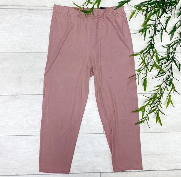 Capri Solid Leggings, Mauve