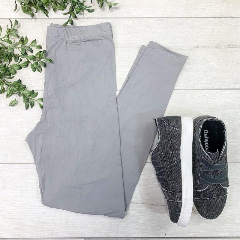 Solid Leggings, Light Gray