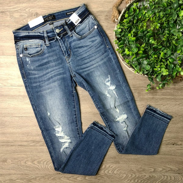 *Kendra's Collection* Distressed Skinny Denim - Medium Wash