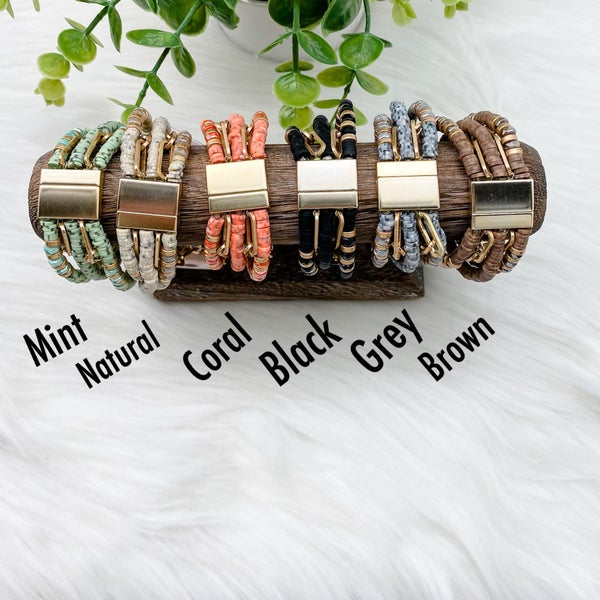 Multiple Beaded Magnetic Bracelet *Final Sale*
