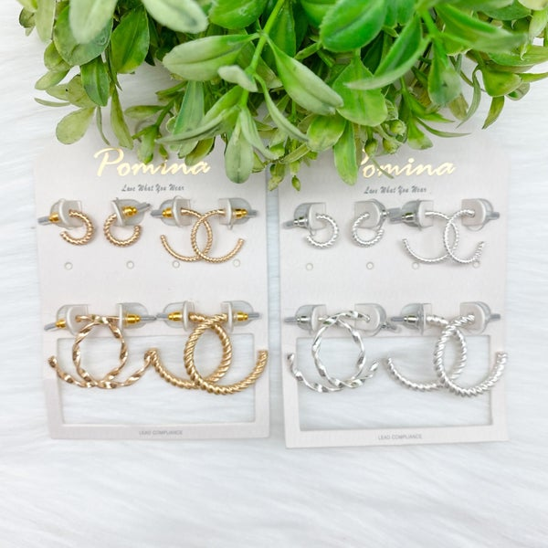 Small Hoop Earrings Set *Final Sale*