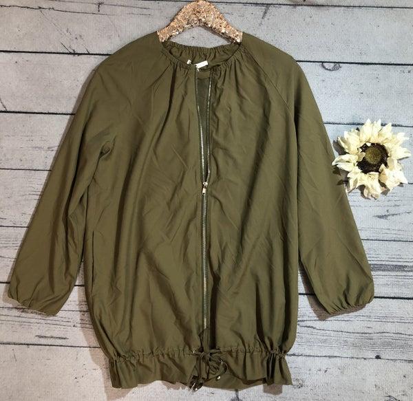 Lightweight Zip Up Jacket, Olive (N)