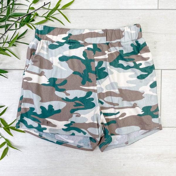 Camo Lounge Shorts, Green *Final Sale*