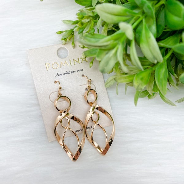 Twist Statement Earrings, Gold *Final Sale*