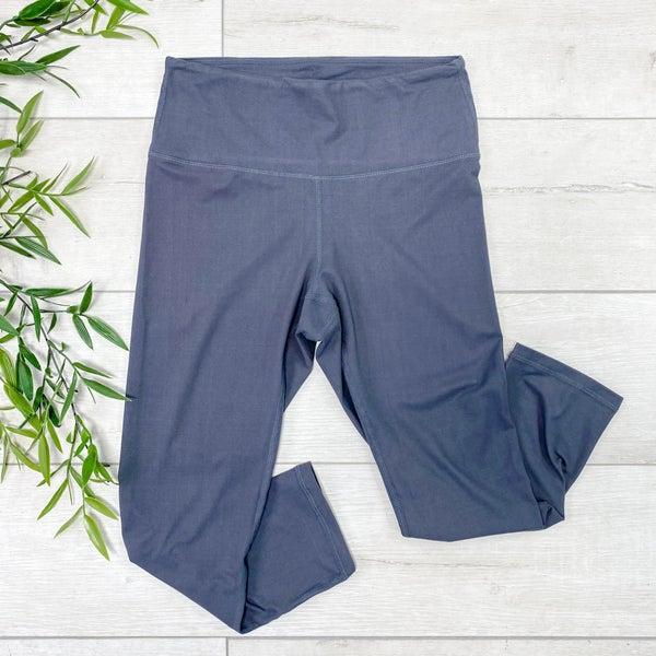 Capri Athletic Legging, Charcoal
