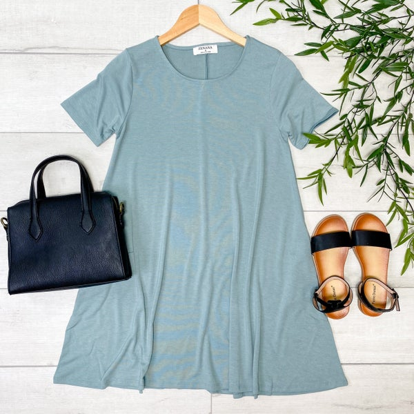 Solid Tunic w/Pockets, Light Green [[LIVE]]