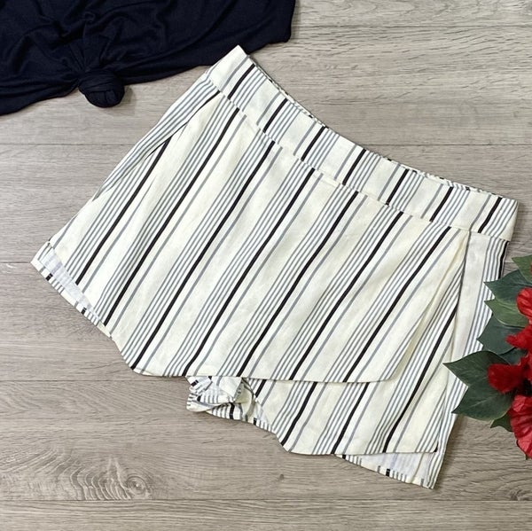 Striped Skort, Cream