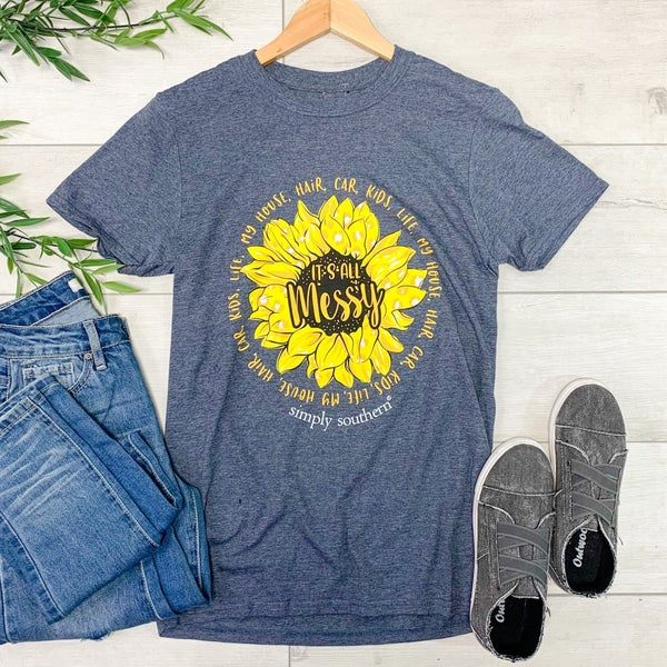 *Simply Southern* It's All Messy T-Shirt, Vintage