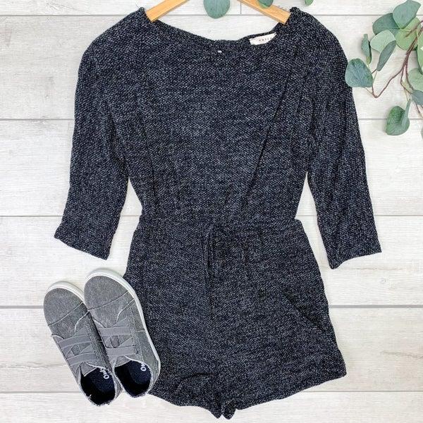 Knit Romper, Black