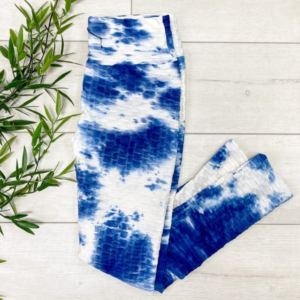 Tie Dye Honeycomb Legging, Navy