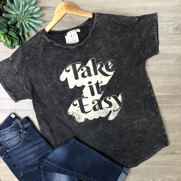 *Kendra's Collection* Graphic Tee - Take It Easy