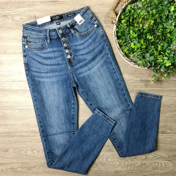 *Kendra's Collection* High Waist Skinny Denim - Medium Wash