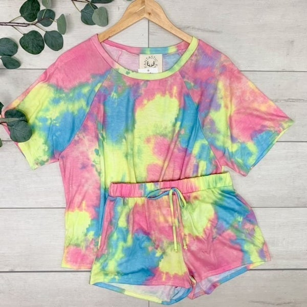 *Kendra's Collection* Tie-Dye Lounge Set, Multi