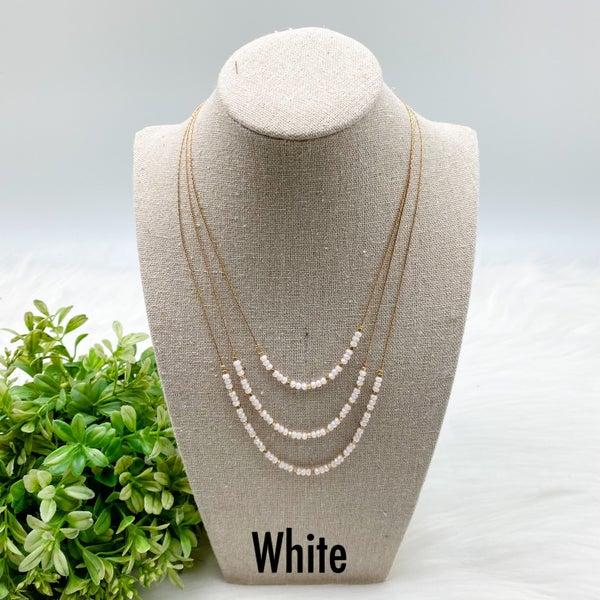 Layered Short Crystal Beaded Necklace *Final Sale*