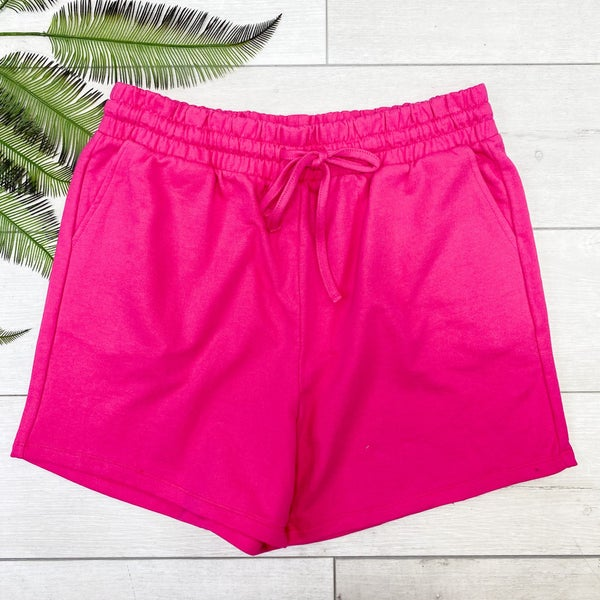 *PLUS* French Terry Shorts, Hot Pink