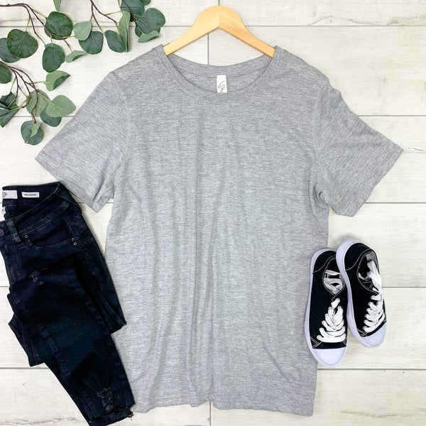 *PLUS* Mineral Washed Top, Heather Gray