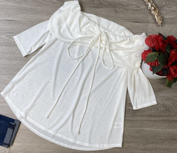 Off The Shoulder Top, White *Final Sale*