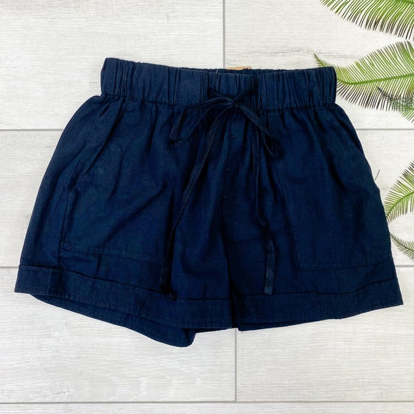 Utility Paper Bag Shorts, Black