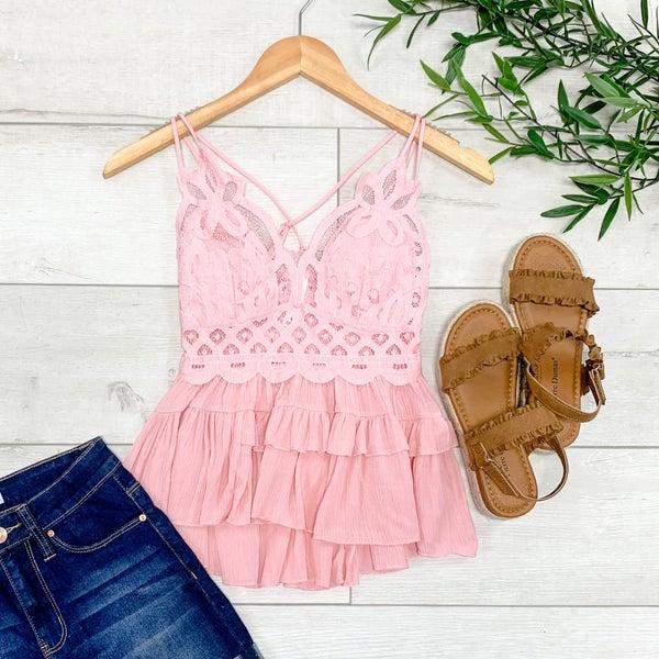 Bralette Cami, Dusty Pink