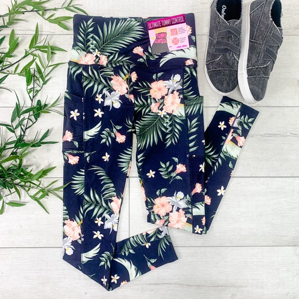 Tropical Print Athletic Legging
