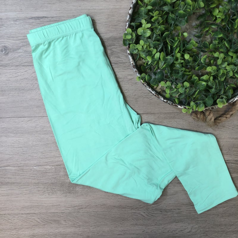 Solid Leggings- Mint
