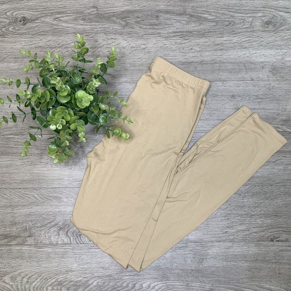 Solid Leggings- Khaki