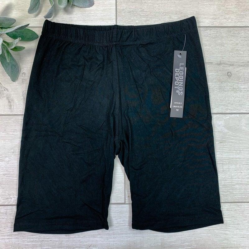 Solid High-waisted Biker Shorts