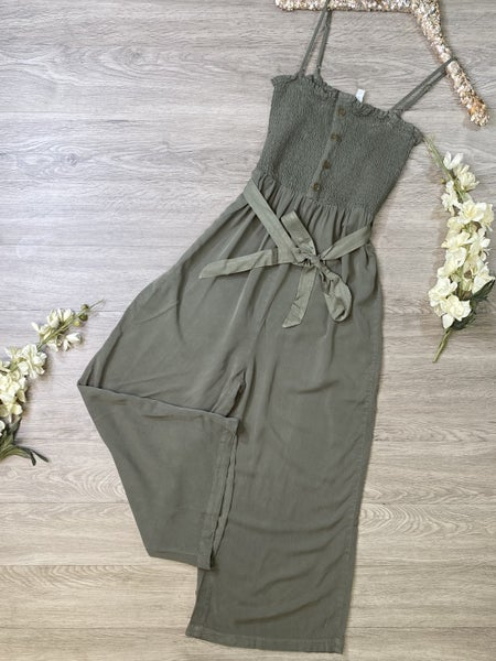 *Kendra's Collection* Gaucho Style Jumpsuit - OLIVE