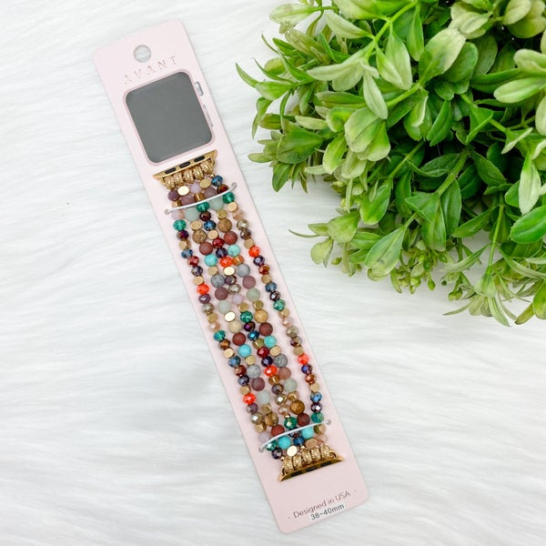 Beaded Apple Watch Band, Multi *Final Sale*