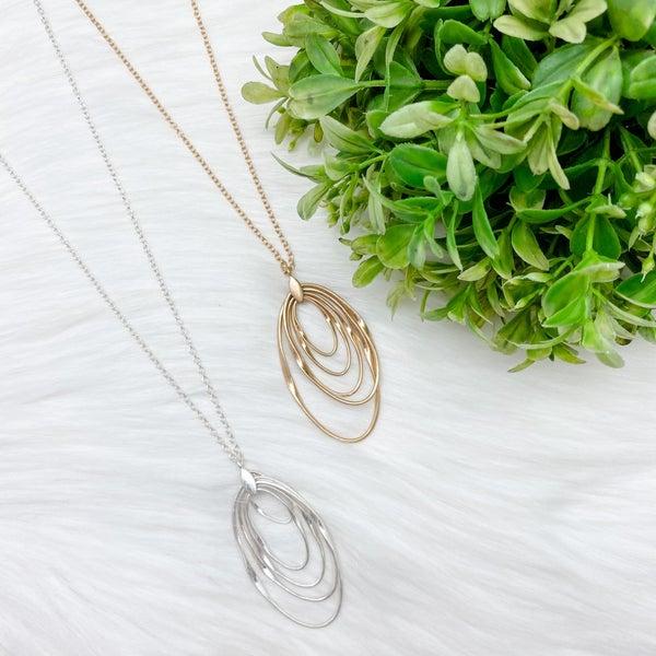Multi Hooped Pendant Long Necklace *Final Sale*