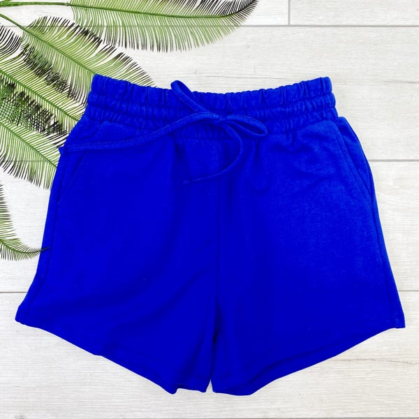 French Terry Shorts, Bright Blue
