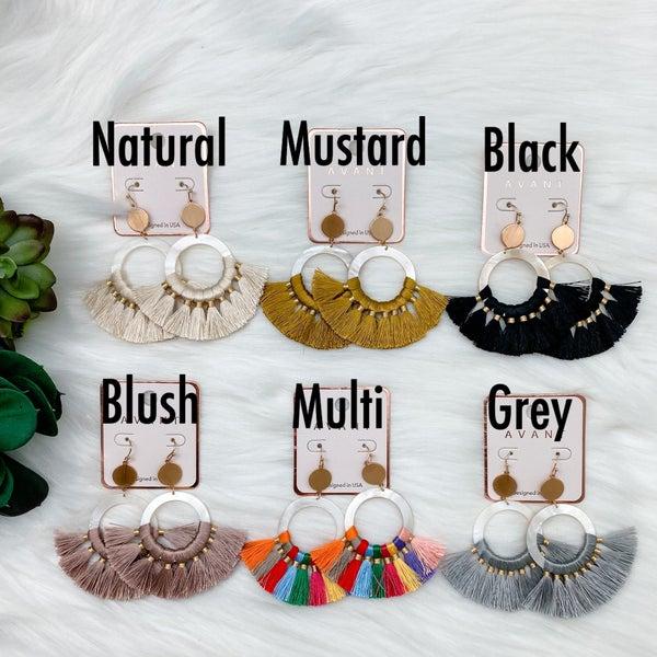 Fan Tassel Statement Earrings *Final Sale*