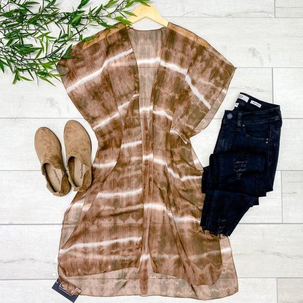 Tie dye Kimono, Mocha