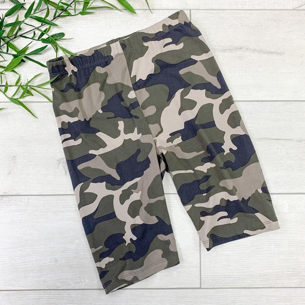Camo Biker Shorts, Dusty Camo